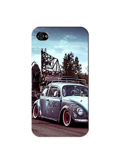 People's Cover iPhone 4/4S Kabartmalı Telefon Kılıfı Renkli